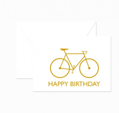 Klappkarte - Happy Birthday - Fixie - Goldfolie