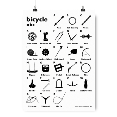 Artprint - Bicycle ABC - A4
