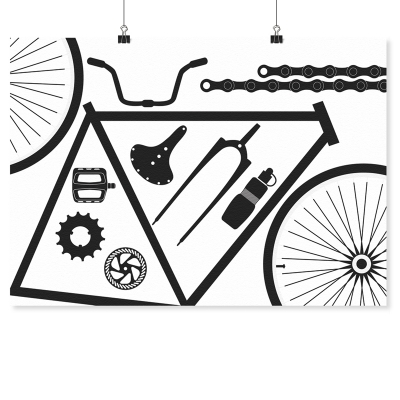 Artprint - Bicycle Parts - A4