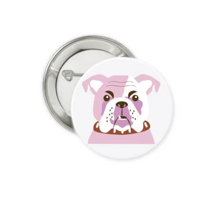 Button - Bulldogge - Ø 38 mm