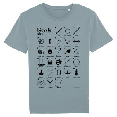 Bicycle abc - Bio-Fair Wear Shirt - taubengrau