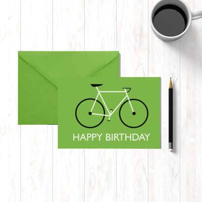 Klappkarte - Happy Birthday - Fahrrad