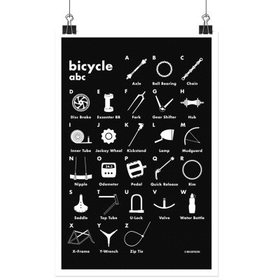 Bicycle abc - 50 x 70 cm auf Gewebeplane