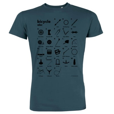 Bicycle abc - Bio-Fair Wear Shirt - petrol