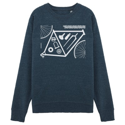 Sweater - Bicycle Parts - denim - unisex