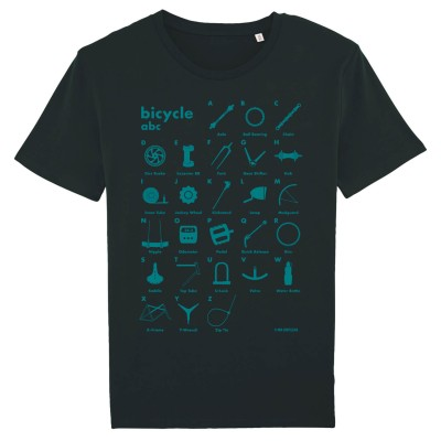 Bicycle abc - Bio-Fair Wear Shirt - black