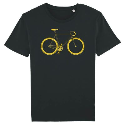 Fixie - Bio-Fair Wear Shirt - gelb-schwarz
