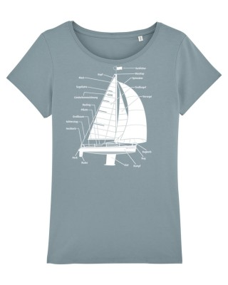 Bio-Fair Wear Shirt - Segelyacht - Frauen - citadel