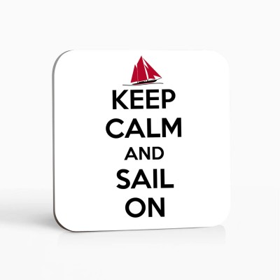 Untersetzer - Keep calm and sail on