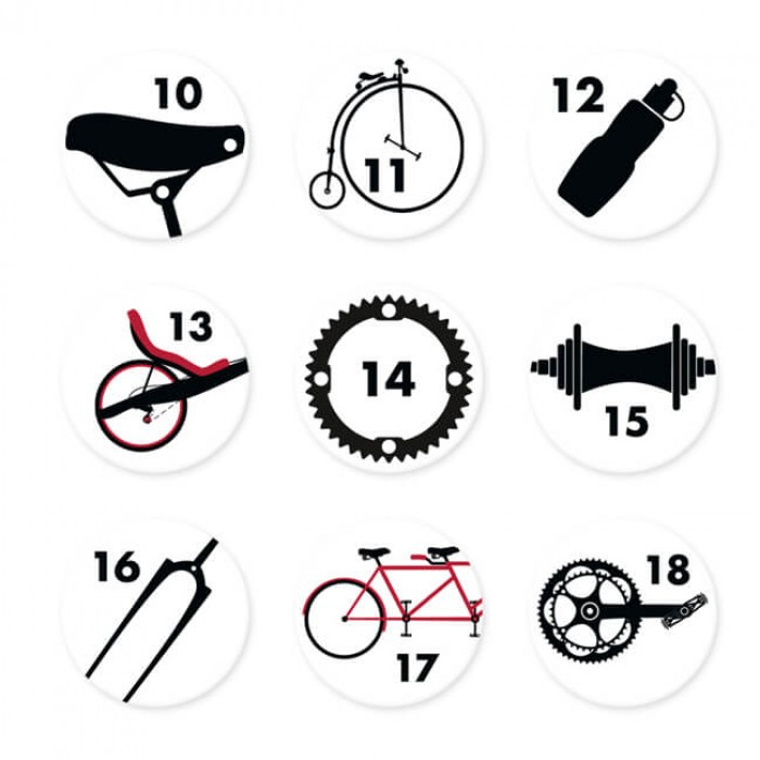 Adventskalender Zahlen Bicycle