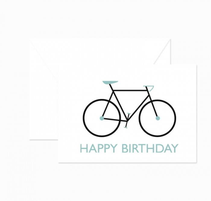 Klappkarte Happy Birthday Fixie