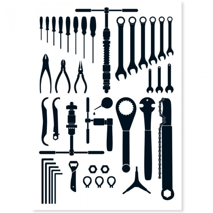 Artikelbild Postkarte Bicycle Tools