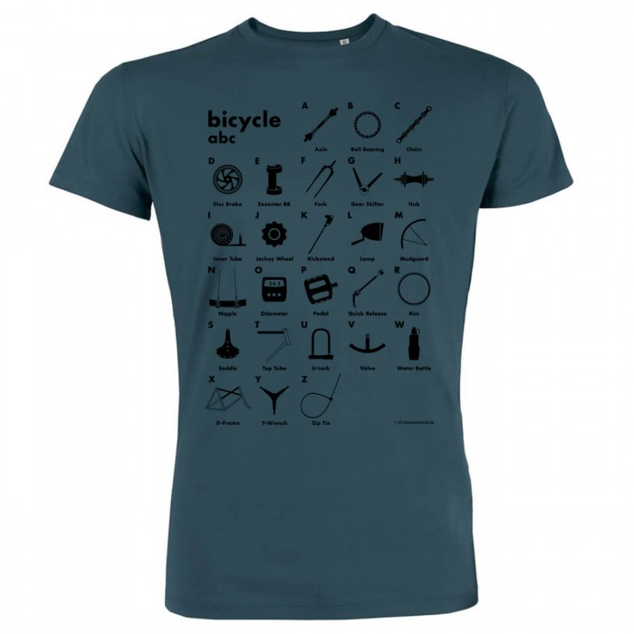 Fahrrad T-Shirt - Bicycle abc - Biobaumwolle