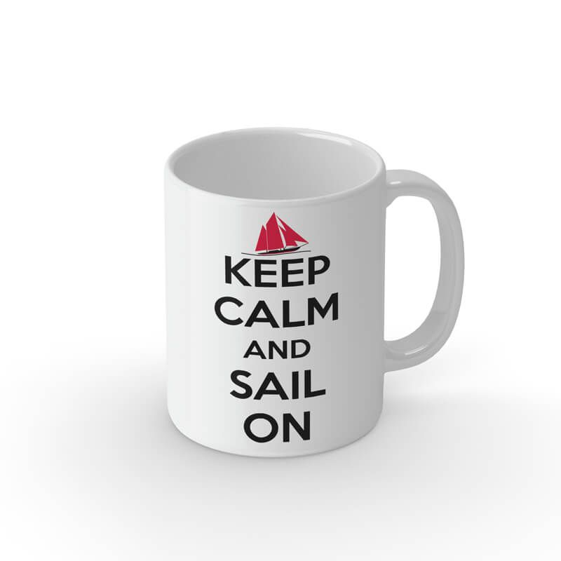 Tasse Keep calm and sail on
