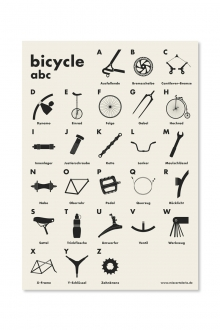 Poster - Bicycle abc - A2