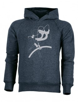 Hoodie - Rennlenker - dark heather denim - unisex