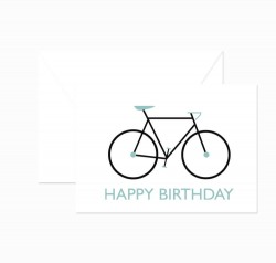 Klappkarte - Happy Birthday - Fixie - petrol